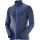 """Salomon M's Discovery FZ Jacket Dress Blue"""